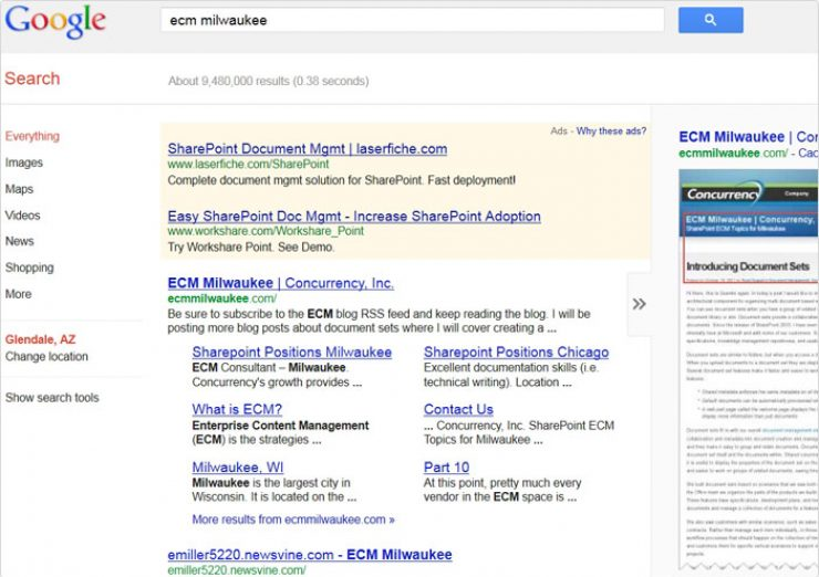 Accomplished very high search rankings for target keywords